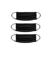 Маска двухслойная Комплект из 3 масок черный