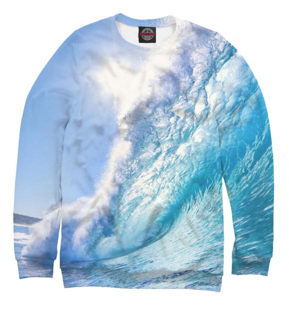 Мужской свитшот с изображением Море цвета Белый
