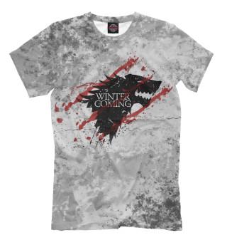 Мужская футболка Winter Coming