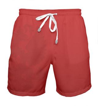 Мужские шорты Красные шорты
