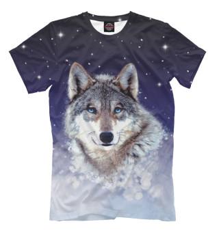 Мужская футболка Ночной волк