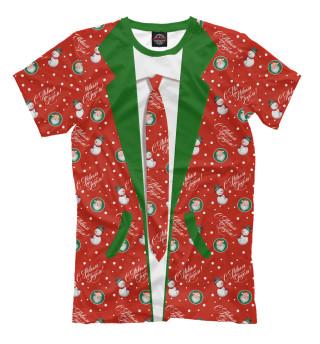 Мужская футболка Костюм новогодний