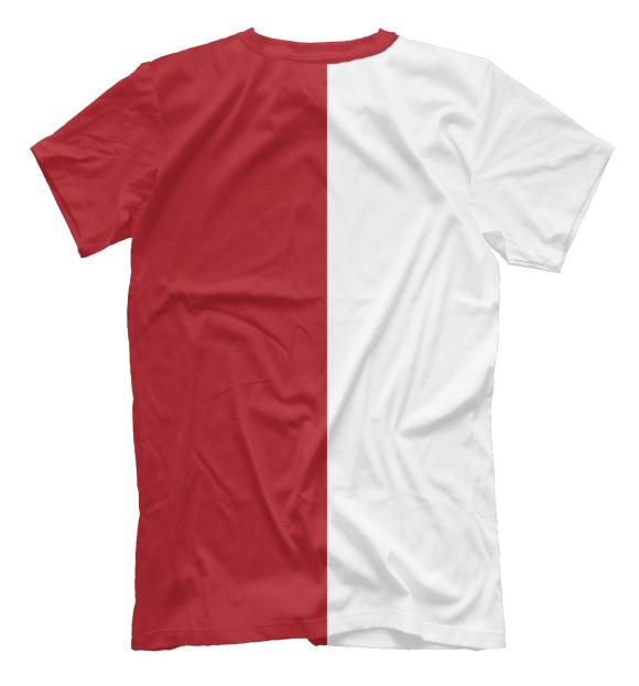 Мужская футболка с изображением Russia цвета Белый