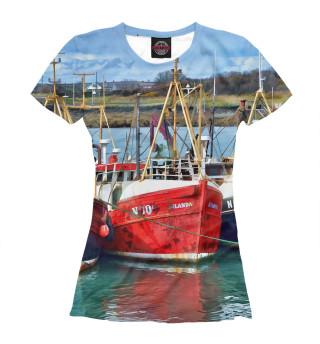 Женская футболка Корабли