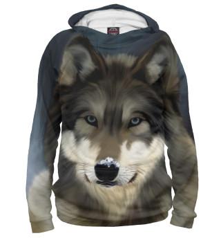 Мужское худи Картинка волк