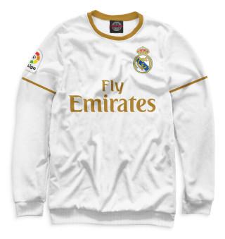 Мужской свитшот Азар Реал Мадрид форма домашняя 19/20