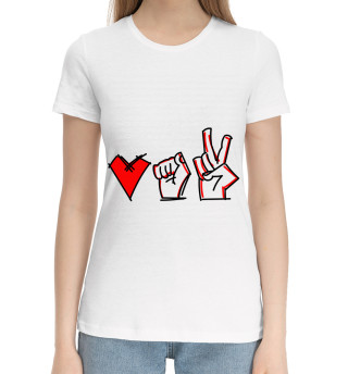 Женская хлопковая футболка Love Belarus