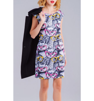 Платье без рукавов Совы