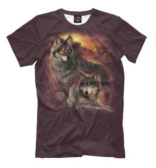 Мужская футболка Пара волков