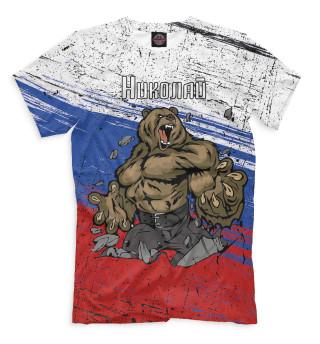 Мужская футболка Николай