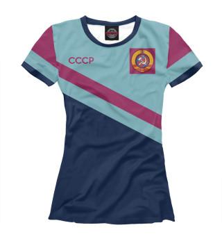 Женская футболка Олимпийка СССР