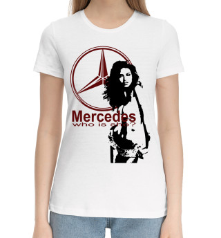 Женская хлопковая футболка Mercedes