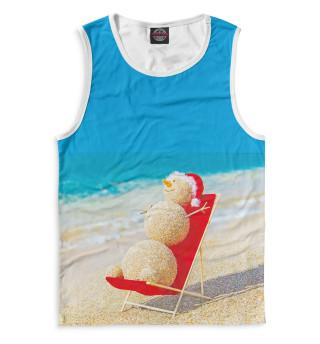 Снеговик на пляже