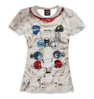Женская футболка Нил Армстронг