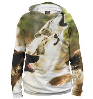 Мужское худи Волки