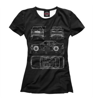 Женская футболка Mercedes-Benz W201