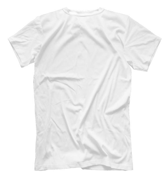 Мужская футболка с изображением Мотаю нервы цвета Белый