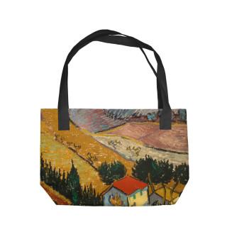 Винсент ван Гог. Пейзаж с домом и пахарь