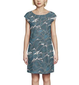 Платье без рукавов Волны