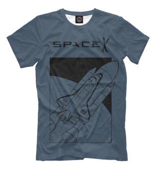 Мужская футболка SpaceX