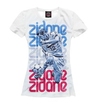 Женская футболка Зидан