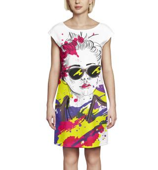 Платье без рукавов Арт