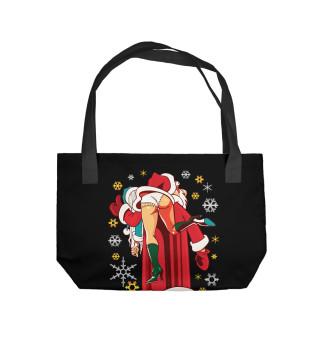 Пляжная сумка Дед Мороз Brazzers