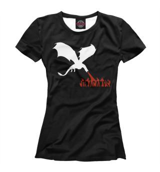 Женская футболка Дракарис