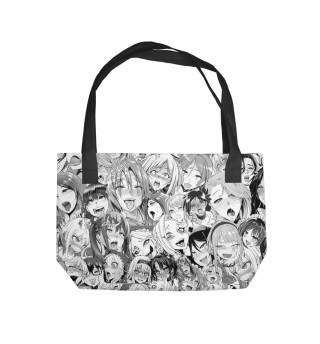 Пляжная сумка AHEGAO-CHAN