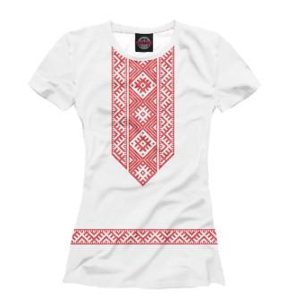 Женская футболка Белорусская вышиванка