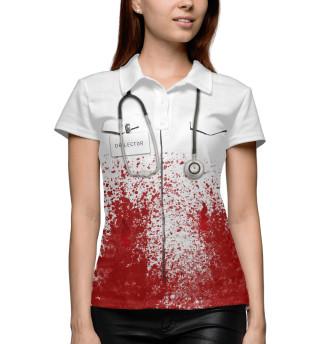 Женское поло bloody doctor