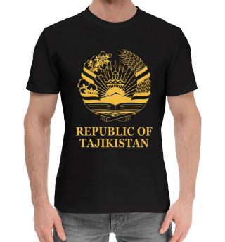 Мужская хлопковая футболка Republic of Tajikistan