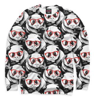 Мужской свитшот Панды в красных очках