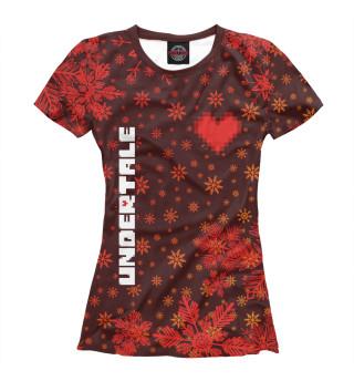 Женская футболка Undertale - Снежный