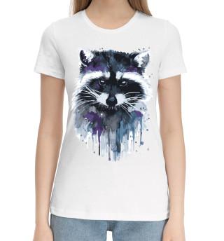 Женская хлопковая футболка Енот