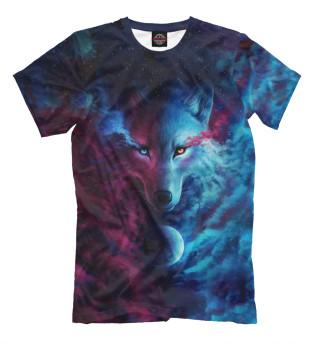 Мужская футболка Space Wolf