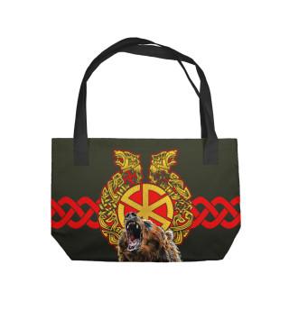 Пляжная сумка Славянские обереги