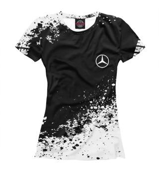 Женская футболка Mercedes-Benz abstract sport uniform