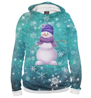 Снеговик в шарфе