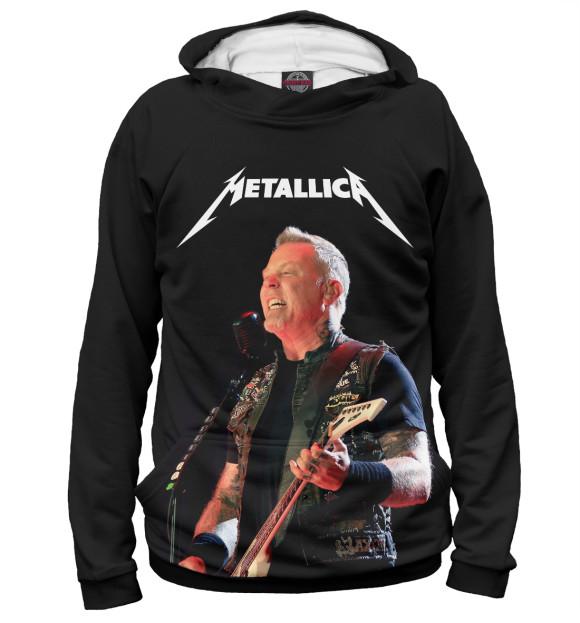 Мужское худи с изображением Metallica цвета Белый