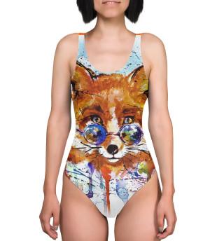 Купальник-боди Яркая лисица