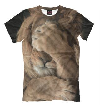 Мужская футболка Лев