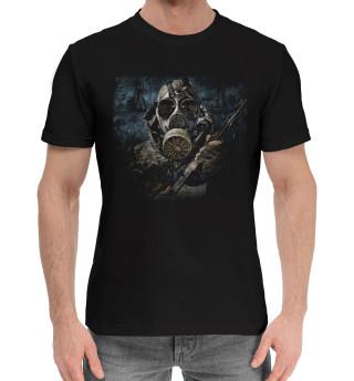 Мужская хлопковая футболка Сталкер в припяти