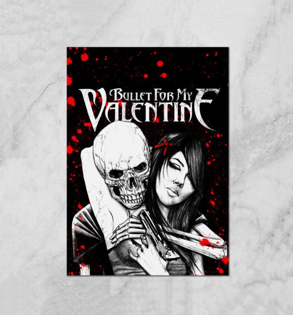 Плакат с изображением Bullet For My Valentine цвета Белый