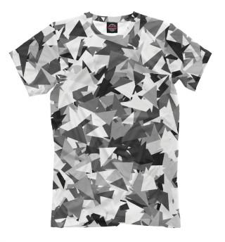 Мужская футболка Городской серый камуфляж