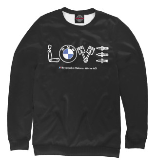 Женский свитшот Love BMW