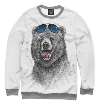 Мужской свитшот Счастливый медведь