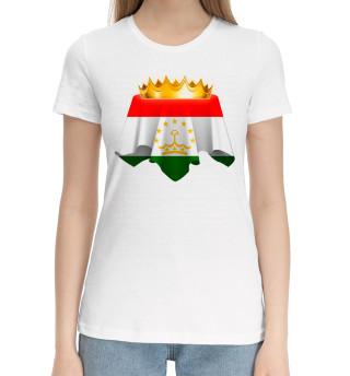 Женская хлопковая футболка Таджикистан