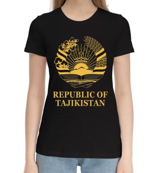 Женская хлопковая футболка Republic of Tajikistan