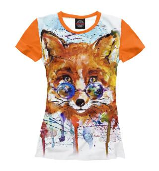 Женская футболка Яркая лисица